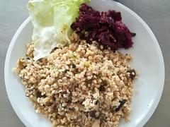 Bulgurový kuba s kapustou, zelný salát
