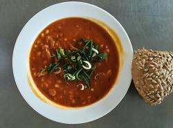 Chilli con carne, slunečnicová  kostka
