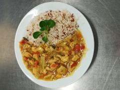 Kuřecí směs, dušená rýže