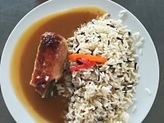 Zbojnický skřivan, dušená rýže