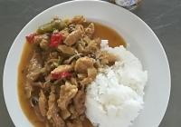 Sojové nudličky s asijskou zeleninou, jasmínová rýže